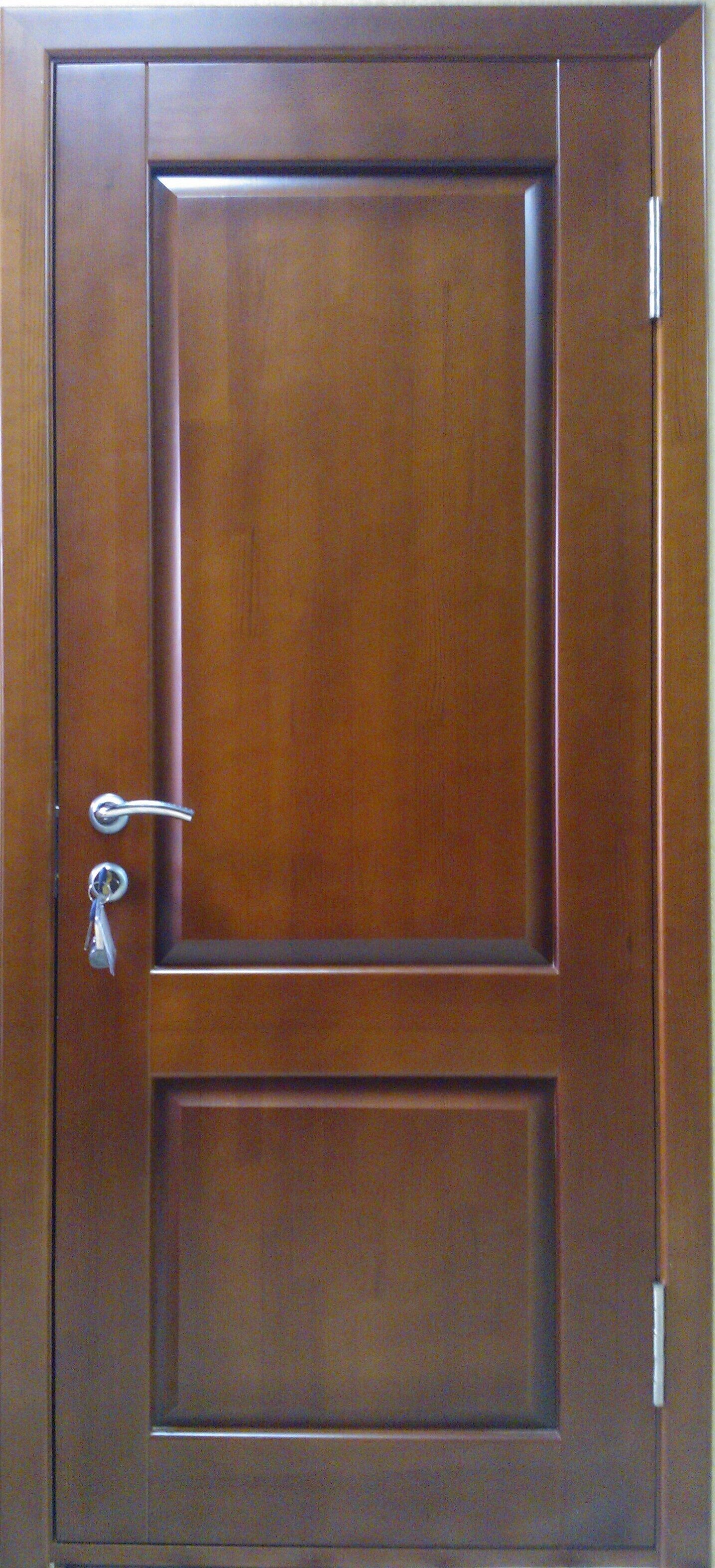 двери входные из сосны массив